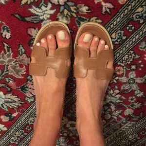 Shoes - Grecian Oran sandals in brown leather